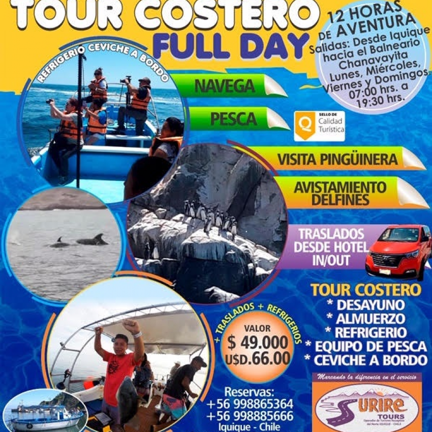 TOUR COSTERO FULL DAY